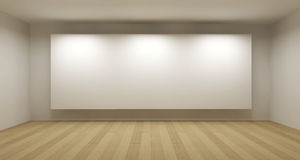 Empty room with white frame Royalty Free Stock Photography