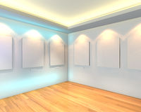 Empty room white gallery Royalty Free Stock Images