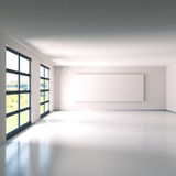 Empty room with white linen Stock Image