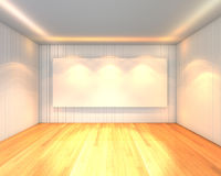 Empty room white meeting room Stock Photography