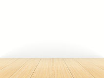 Empty room. White wall. 3D Stock Image