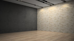 Empty room whith brick wall Stock Photos