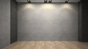 Empty room whith grey wall Royalty Free Stock Images