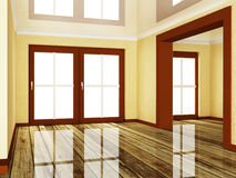 Empty room wiht a doorway Stock Images