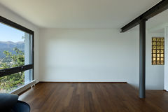 Empty room with window. Modern apartment,empty room with window Royalty Free Stock Image