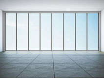 Empty room with window. The empty room with big panoramic window royalty free illustration