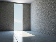 Empty room with window Royalty Free Stock Photos