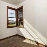 Empty room with window. Royalty Free Stock Photography