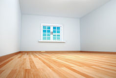 Empty room with the window closed Stock Photo