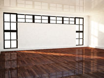Empty room with a  window Royalty Free Stock Photography