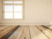 Empty room with the window, 3d Stock Photo
