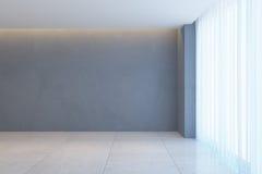 Empty room with window Royalty Free Stock Photos