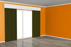 Empty Room with Window Stock Photo