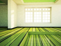 Empty  room with the window Stock Image