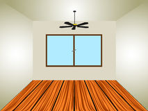 Empty room with window and lamp Stock Image