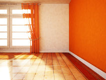 Empty room with a window Royalty Free Stock Images