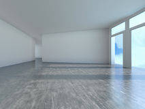 Empty room with window shadow, 3D Royalty Free Stock Image