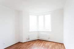 Empty room with window Stock Photo