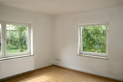 Empty room with windows Stock Photography