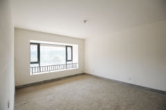 Empty room with windows Stock Photos