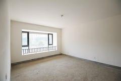 Empty room with windows Stock Photos