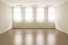 Empty room with windows aside Stock Photos