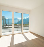 Empty room with windows Royalty Free Stock Images