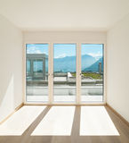 Empty room with windows Stock Images