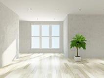 Empty room with windows Royalty Free Stock Photos