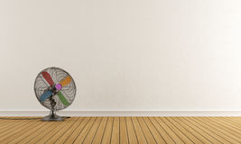 Empty Room With Colorful Fan Stock Images