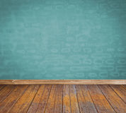 Empty room and wood floor royalty free stock photo