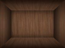 Empty room in wood texture Stock Photos
