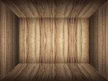 Empty room in wood texture Stock Images