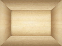 Empty room in wood texture Royalty Free Stock Image