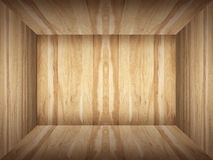 Empty room in wood texture Royalty Free Stock Photo