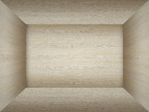 Empty room in wood texture Royalty Free Stock Images