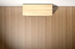 Empty Room With Wooden Cabinet Royalty Free Stock Image