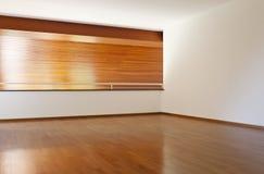 Empty room with wooden floor Stock Image