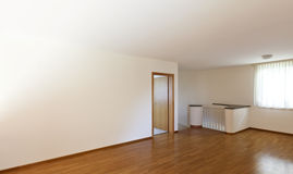 Empty room with wooden floor Stock Photography