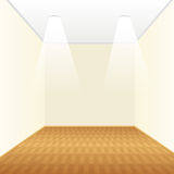 Empty room with a wooden floor Royalty Free Stock Photos