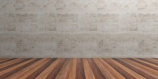 Empty room, wooden floor and marble wall. 3d illustration. Empty room with wooden floor and marble wall. 3d illustration vector illustration