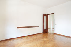 Empty room with wooden floor Royalty Free Stock Photo