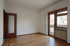Empty room with wooden floor Royalty Free Stock Image