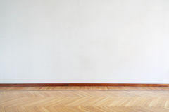 Empty room with wooden floor, parquet Royalty Free Stock Photography