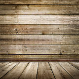 Empty room with wooden floor and wall Royalty Free Stock Image