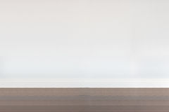 Empty room with wooden floor and white wall Stock Photos