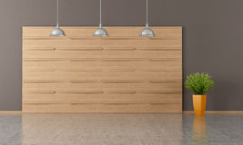Empty room with wooden panel Royalty Free Stock Photography
