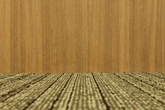 Empty room with wooden wall and carpeting  floor. - (Depth). Empty room with wooden wall and carpeting floor. - (Depth Stock Photos