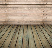 Empty room wooden wall and floor royalty free stock image