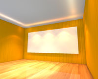 Empty room yellow meeting room Royalty Free Stock Photo